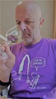 Jacques Jeannerat en pleine dégustation